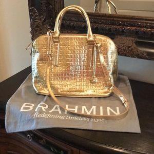 Metallic Gold Brahmin Purse
